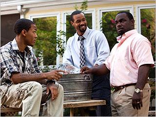 Tyler Perry's Madea's Big Happy Family | TYLER PERRY'S MADEA'S BIG HAPPY FAMILY Byron (Shad Bow Wow Moss, left), Calvin (Isaiah Mustafa, center) and Harold (Rodney Perry, right)