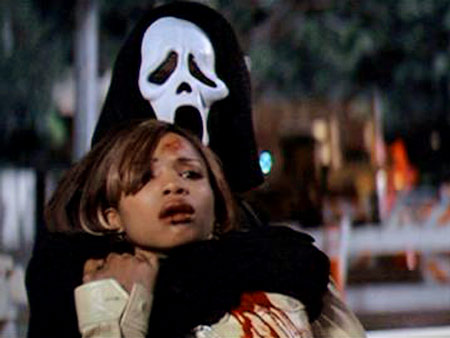 Elise Neal, Scream 2 | Hallie survived a nasty car accident with Sidney after Ghostface hijacked their ride (and knocked off their police escort). But then Ghostface surprised her with…