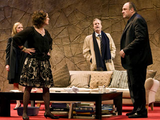 GOD OF CARNAGE Hope Davis, Marcia Gay Harden, Jeff Daniels and James Gandolfini