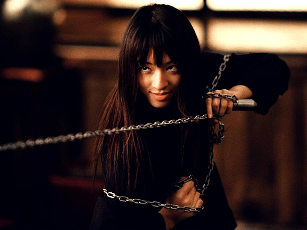 Chiaki Kuriyama, Kill Bill -- Vol. 1 | A 17-year-old sociopath, Gogo is first introduced disemboweling a drunk who tries hitting on her. But she's really just a normal kid. She has hobbies…
