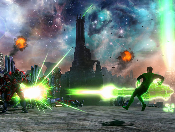 Hal Jordan's film-tied game refreshingly weaves an original yarn, supports co-op play (player two suits up as Sinestro), and allows fans to use that freakin'…