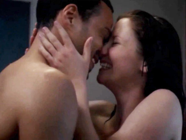 Chyler Leigh, Jesse Williams | ...and Jackson (Jesse Williams) and Lexie (Chyler Leigh) hitting the shower. And it's about time, especially for man-candy Jackson. ''The writers would say, 'For the…