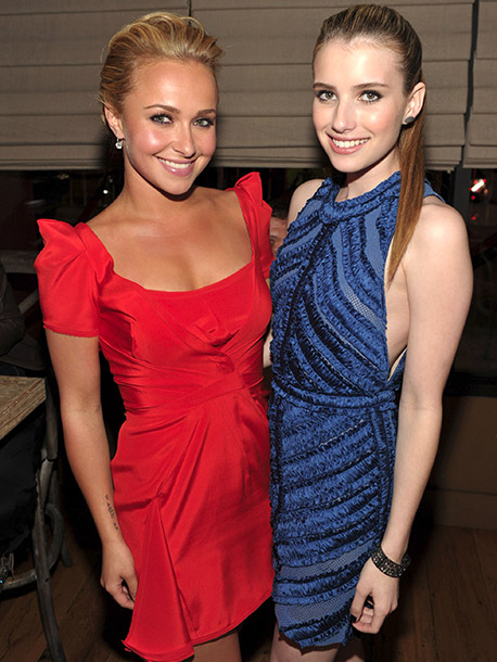Hayden Panettiere and Emma Roberts