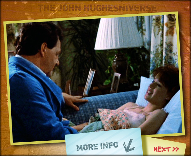 John Hughes | Actor Paul Dooley's late-night heart-to-heart with Ringwald ends with a line about ''wearing the pants in the family,'' which inadvertently reminds her that she lent…