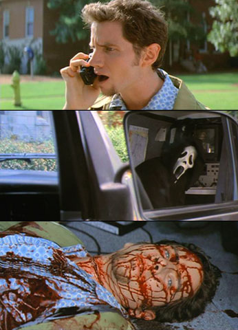 Jamie Kennedy, Scream 2 | Proving the killers' brutality, fan favorite Randy was knifed in broad daylight after Ghostface grabbed him and stuffed him in one of Gale's production vans.