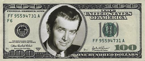 Jimmy Stewart 100 Bill