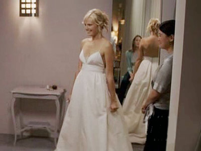 27 Dresses, Malin Akerman | Tess (Malin Akerman) may have been some bitch who cut up her mom's wedding dress, but not even her distraught sister (Katherine Heigl) could disagree…