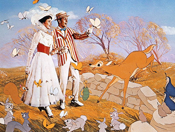 Mary Poppins | It's a jolly holiday indeed when Julie Andrews' supercalifragilistically perky Mary Poppins and Dick Van Dyke's chivalrous Cockney chimney sweep Bert leap right into one…