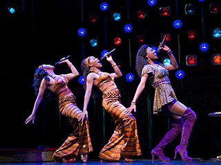 SISTER ACT A lively new musical based on the 1992 film, with a star turn by newcomer Patina Miller Patina Miller (right, with, from left,…