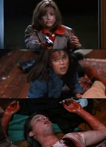 Skeet Ulrich, Scream | Billy Loomis was not only stabbed with an umbrella by Sidney (who was clad in a Ghostface outfit) he was later shot in the head…
