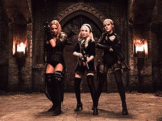Abbie Cornish, Emily Browning, ...   Abbie Cornish as Sweet Pea, Emily Browning as Babydoll and Jena Malone as Rocket in Sucker Punch