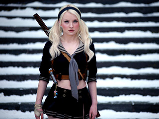 Emily Browning, Sucker Punch | SCANTILY CLAD AND SWEET-LOOKING Emily Browning as Babydoll in Sucker Punch