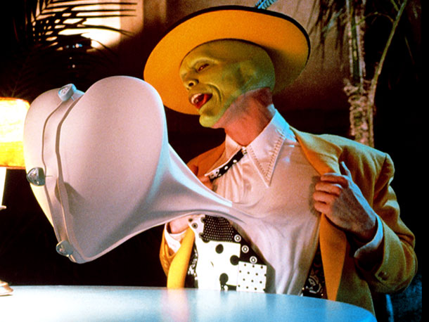 The Mask | Of all the ways that have ever been devised to use Jim Carrey in a movie (slapstick idiot, rubber-faced Everyman, serious actor), few have fit…