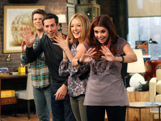 HEY, SMILE Jake Lacy, Josh Cooke, Jennifer Finnigan,and Joanna Garcia in Better with You
