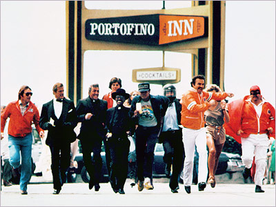 Burt Reynolds, Dom DeLuise, and Farrah Fawcett lead the pack in this all-star cross-country underground race. Chaotic comedy ensues. Screenwriter Brock Yates founded the real-life…