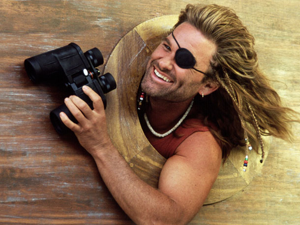 Kurt Russell, Captain Ron   Why We'd Follow Him Anywhere: Who better to take you from St. Potato island to Miami and save you from guerrillas (not gorillas) than Captain…