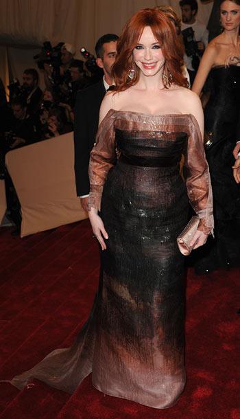 Christina Hendricks | The Mad Men star has shown us the many , many , many ways she can flaunt her figure but this long-sleeved Carolina Herrera ensemble…