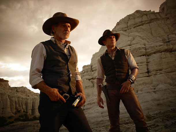 Daniel Craig, Harrison Ford | Think Indiana Jones meets James Bond. With cowboy hats and six-shooters. And the actress who plays Thirteen on Fox's House . And a battalion of…