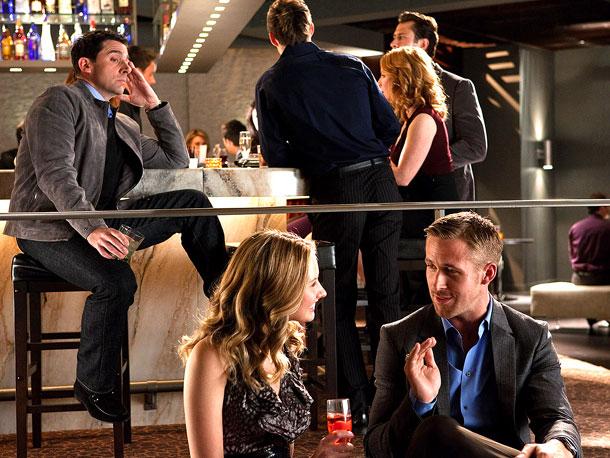 Steve Carell, Caitlin Thompson, and Ryan Gosling