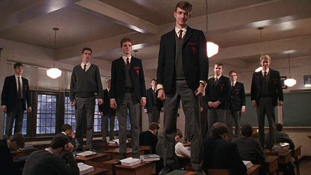 Dead Poets Society   Why We'd Follow This Walt Whitman Poem Anywhere: That last scene in Dead Poets Society is so damn good, we'd gladly stand on our desks…