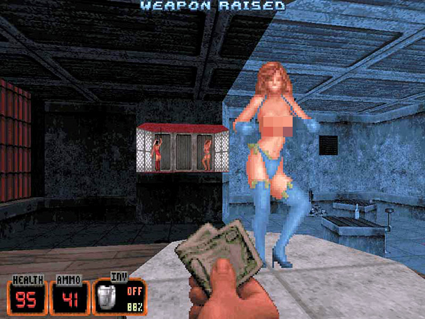 Duke Nukem 3D, strippers