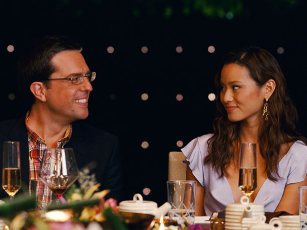 Ed Helms and Jamie Chung