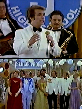 Happy Days, Henry Winkler | Oh, those no-good kids and that broom closet. Prom jam: ''Tequila,'' The Champs (with the word ''tequila'' edited out, of course)