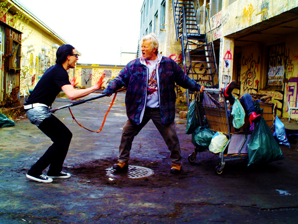 Gregory Smith and Rutger Hauer