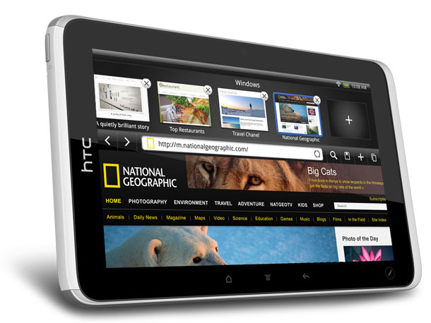 A 7-inch powerhouse featuring HTC's heralded Sense software overlay to Android, the Flyer also supports a stylus for notes and drawing. (Spring; price TBA)