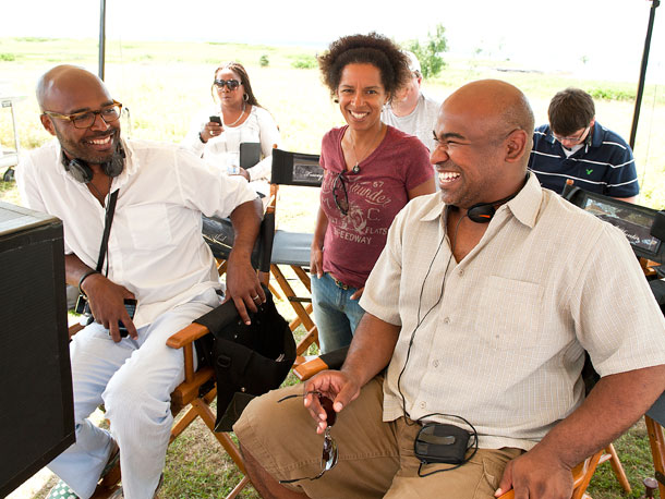 Salim Akil (director), Elizabeth Hunter (writer/producer), and Glendon Palmer (producer)