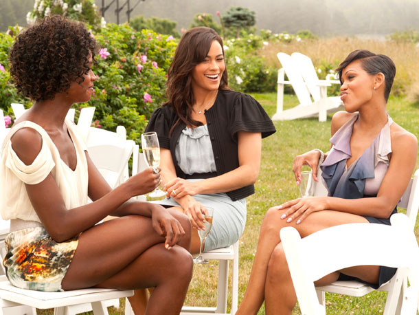 Tenika Davis, Paula Patton, and Meagan Good