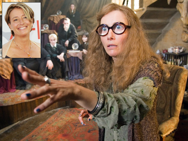 Playing: Sybill Trelawny, Hogwarts professor of divination Oscar-winning Role: Margaret Schlegel Wilcox, mistress of an English country house, in Howards End (1992) Typecasting Alert? In…