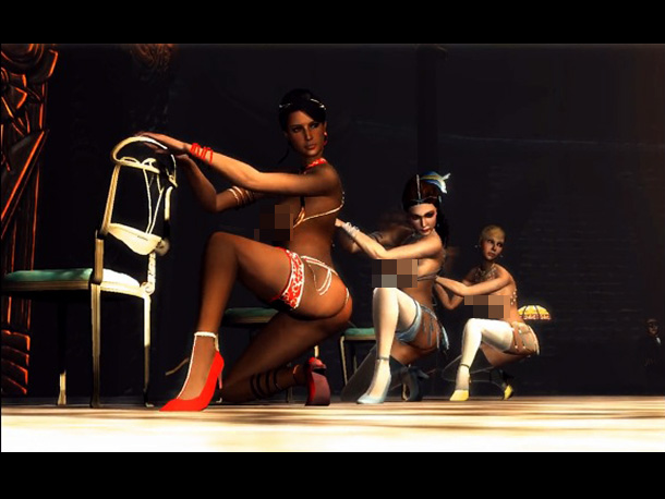 Essential to the story or just for fun? Look, more videogame strippers!
