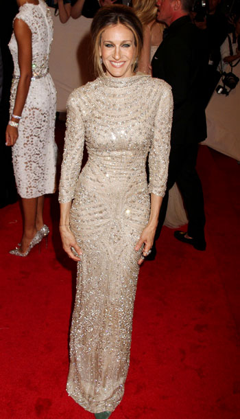 Sarah Jessica Parker | The intricate beading on Parker's Alexander McQueen archival dress fully redeemed what could have been a matronly silhouette. A-