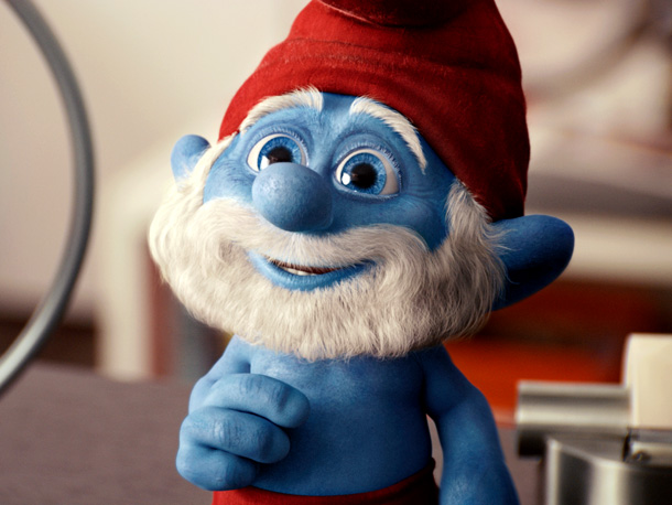 Papa Smurf (voiced by Jonathan Winters)
