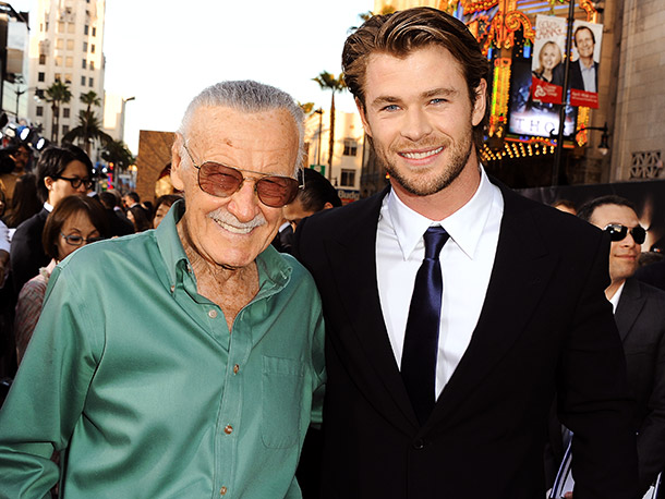 Stan Lee, Chris Hemsworth
