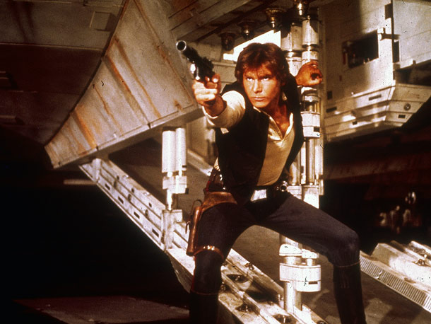 Star Wars: Episode IV - A New Hope, Harrison Ford   Why We'd Follow Him Anywhere: Because no one, not on this galaxy — or any other galaxy far, far away, for that matter — is…