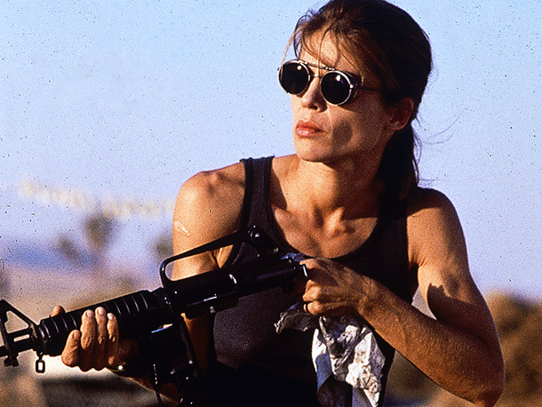 Terminator 2: Judgment Day, Linda Hamilton | In the first Terminator , Sarah Connor is a sweet Everygal who finds herself caught up in a terrifying assassination plot she can barely understand.…