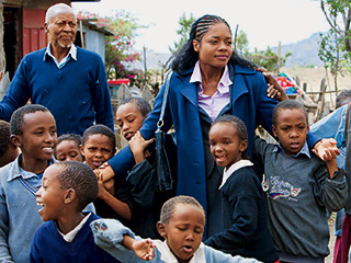 Naomie Harris, The First Grader | POWER OF EDUCATION Naomie Harris, Oliver Litondo, and the children in The First Grader