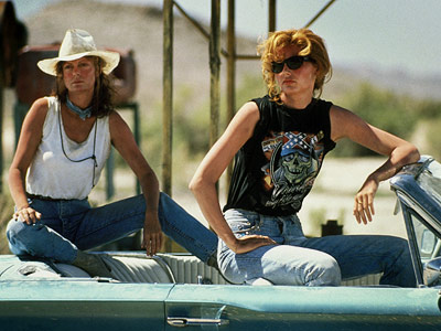 Road trips aren't just for guys. All in all, Geena Davis and Susan Sarandon had a pretty fun time. Except for the whole roadhouse parking…