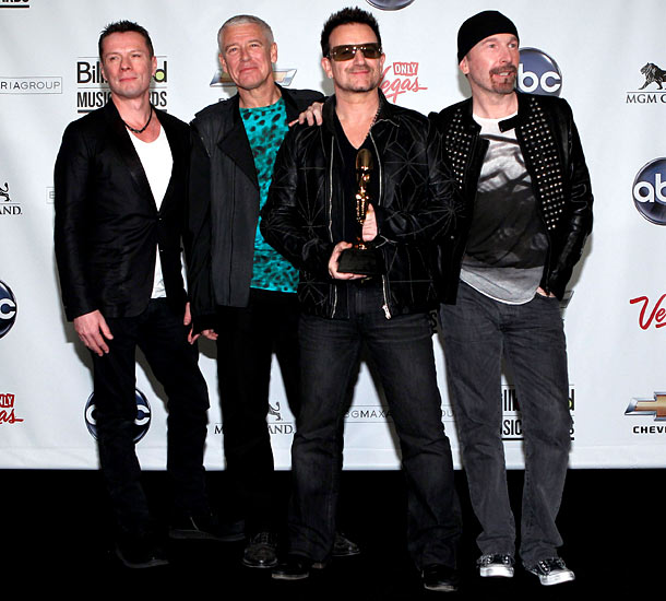 U2--Larry Mullen, Jr., Adam Clayton, Bono, and the Edge