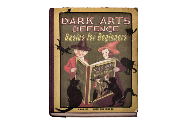Harry Potter | Some books, like this Defense Against the Dark Arts textbook, were specifically designed and constructed, but many of the volumes in the background were not.…