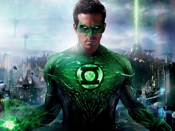 Green Lantern, Ryan Reynolds | Darren: Give the designers credit for doing something new here. The outfit is entirely a computer-generated creation, digitally painted onto Ryan Reynolds' body in post-production.…