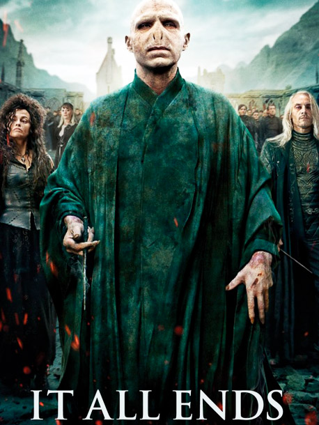Voldemort (Ralph Fiennes) and the Death Eaters