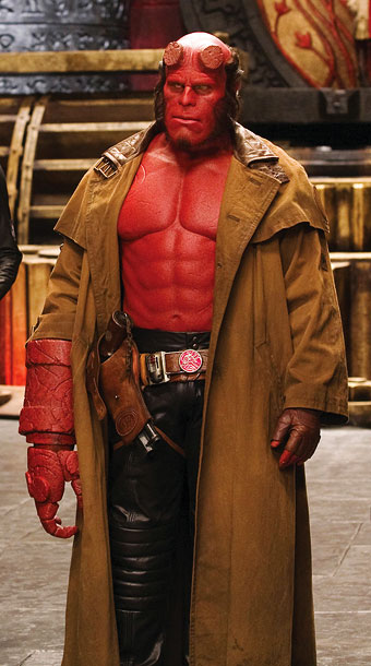 Hellboy, Ron Perlman | Leather pants, a trench coat, and no shirt. Sure, Hellboy sounds like a flasher, but great fashion is all about taking chances.