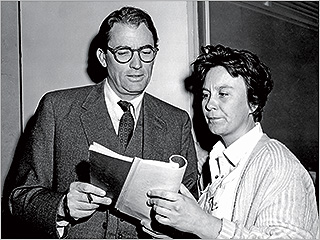 Harper Lee, Gregory Peck, ... | EXPLORING MYSTERY Gregory Peck with writer Harper Lee in the Hey, Boo: Harper Lee and To Kill a Mockingbird documentary
