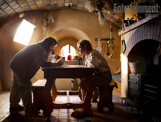 Peter Jackson, Martin Freeman | PETER JACKSON WITH MARTIN FREEMAN ''There's no way you can pace yourself for shoots like these,'' Jackson says. ''When we were going through the schedule…