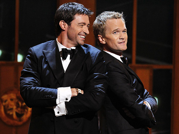 NEIL PATRICK HARRIS AND HUGH JACKMAN PLAY DUELING HOSTS (2011) The two dashing former Tonys hosts mixed it up musically in a rivalry-tinged duet medley…