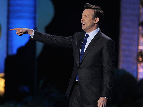 MTV Movie Awards 2011, Jason Sudeikis | ''The entire balcony was fathered by Arnold Schwarzengger.''