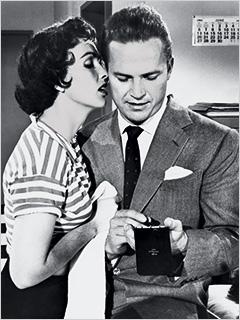 SWEET TOOTH Maxine Cooper and Ralph Meeker in Kiss Me Dealy